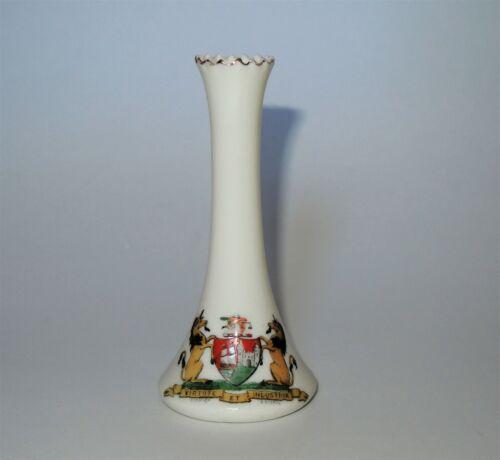 W. H. GOSS Crested Heraldic China Mini Miniature Cone Bud Vase City of Bristol