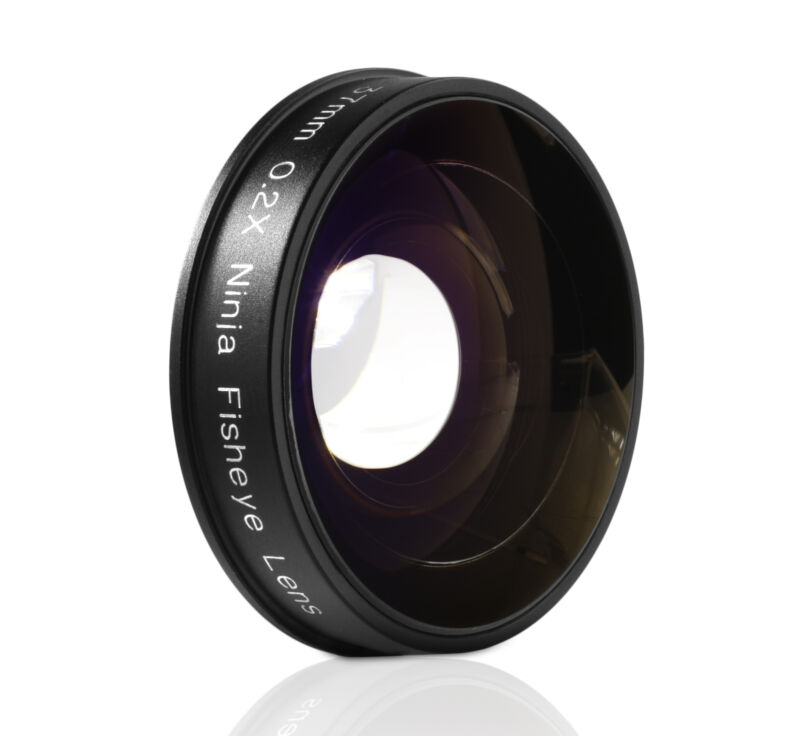 Opteka .2x Fisheye Lens for Canon Sony JVC 37mm Threaded Video Camera Camcorders