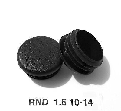 14 Gauge Black Caps ((4) Round 1-1/2