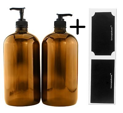 amber glass lotion pump bottles