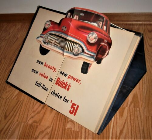 1951 Buick Dealership Car Model Option Book with Pop Ups & Motion Displays--COOL