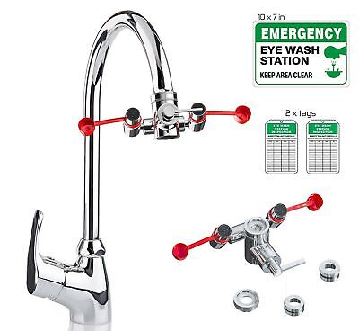 Skywin Eye Wash Kit - Faucet Mounted Emergency Eye Wash Station Sink Attachme...