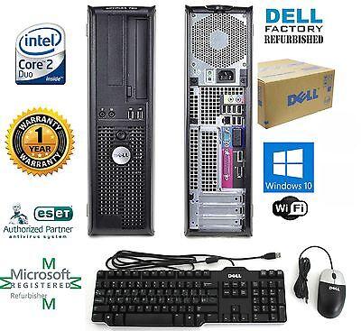 4 Gb Ram 32 Bit (DELL PC COMPUTER DESKTOP 4GB RAM 250GB HD WINDOWS 10 Pro 32bit Free Shipping)