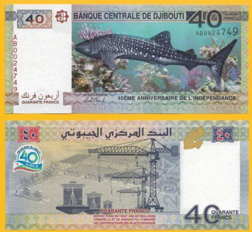 Djibouti 40 Francs p-new 2017 Commemorative UNC Banknote