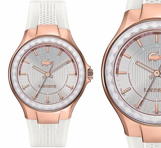 Original Lacoste Uhr Damenuhr 2000774 Acapulco Farbe:Rose Gold Weiß NEU
