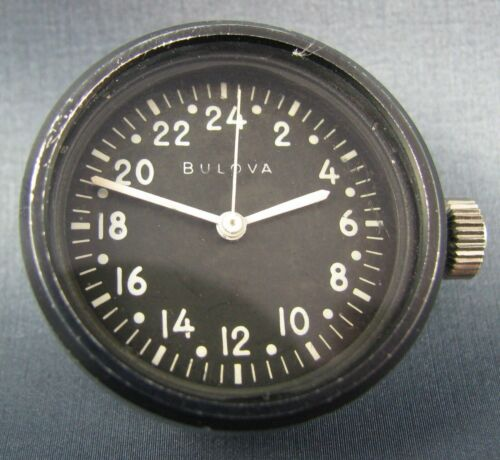 RARE Vintage Military Issue Bulova 24 Hour Mens Timer Watch Hack 1960