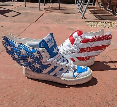 Adidas Jeremy Scott Wings 2.0 US Airforce Hightop Trainers Size 7 UK 7.5 USA
