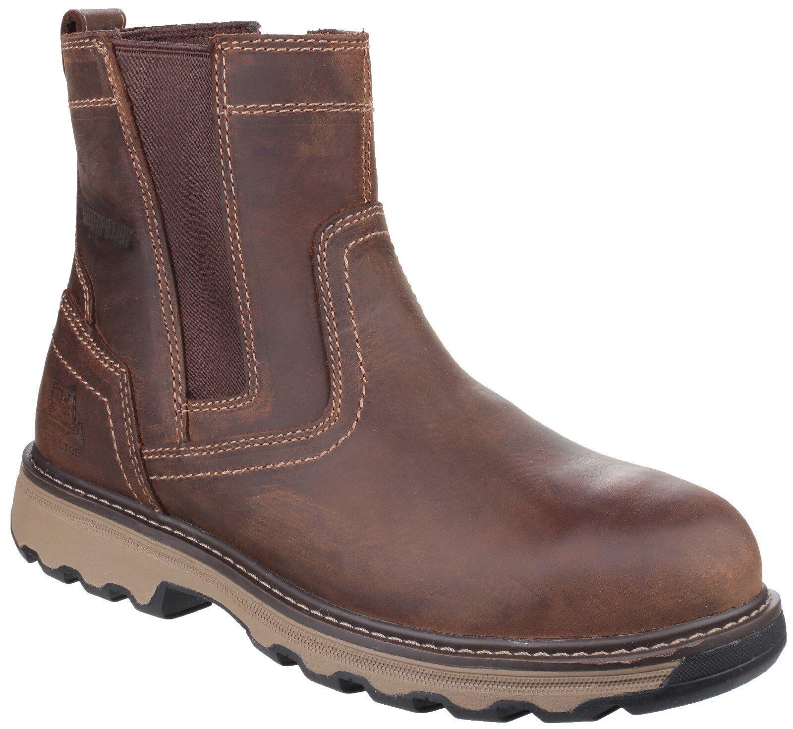 12224a1ca1e28 CAT Caterpillar Pelton Safety Dealer Boots Mens Industrial Work Shoes UK6-12