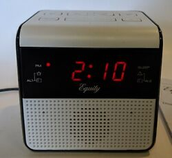 "30118 Equity by La Crosse AC Powered 0.6"" Red LED Display Digital FM Clock Radio"