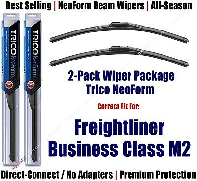 2pk NeoForm Wiper Blades fit 2004-2012 Freightliner Business Class M2 16220x2