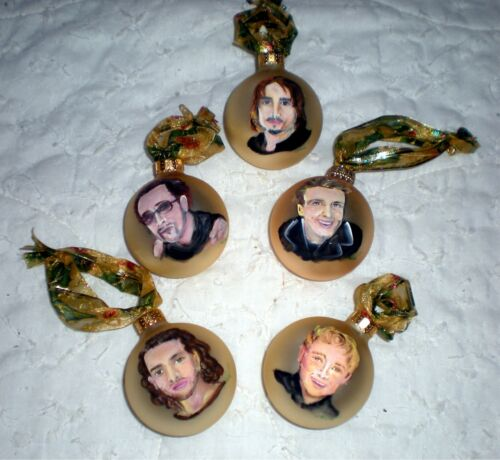 Backstreet Boys Christmas Ornaments Hand Painted (one for each member)