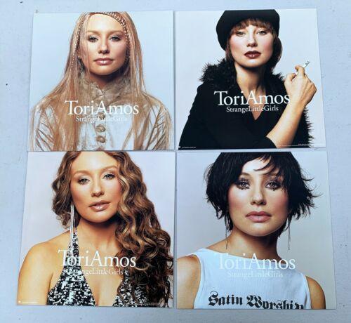 TORI AMOS Lot 4 12x12 Double Sided Promo Poster Flats Strange Little Girls NEW