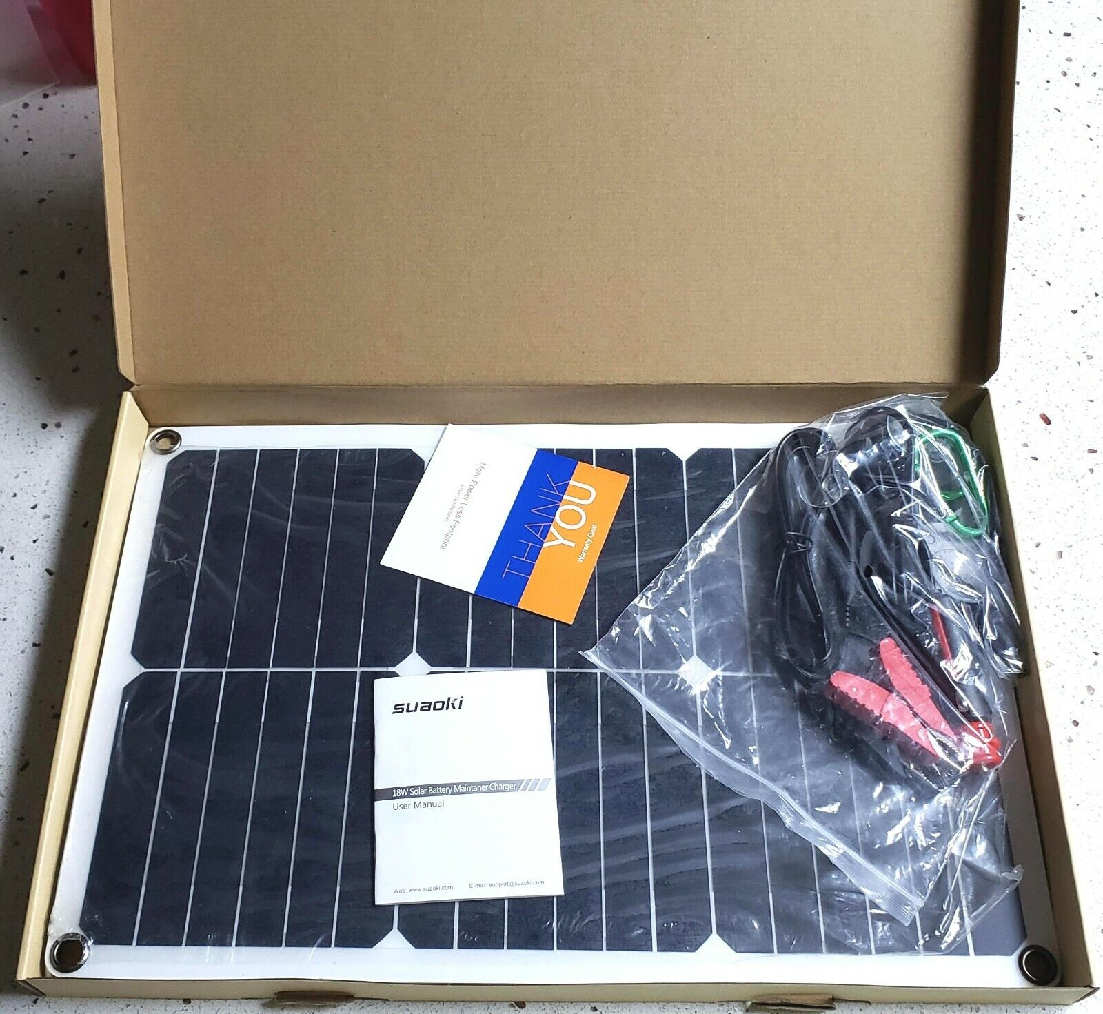 portable 18w solar panel 12v battery charger
