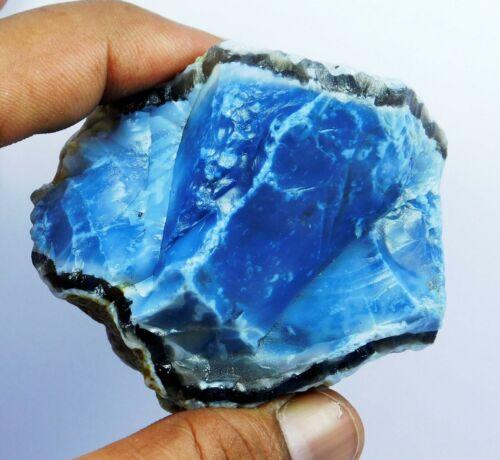 Natural 768.20 Blue Opal Rough Good Looking Slab Quality Gemstone.H-8921