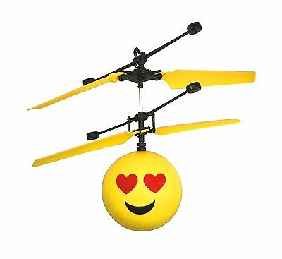 Emoji Flying Helicopter Drone Infrared Hand Controlled Game RC Toys Emoticons UK