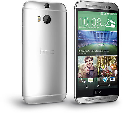 New Htc One M8 At T Unlocked 4G Lte Gsm 32Gb 5  Android Smartphone Silver
