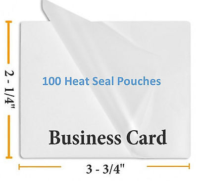 - 5 Mil Business Card Size Heat Sealing Laminating Pouches 100  2.25