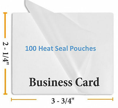 5 Mil Business Card Size Heat Sealing Laminating Pouches 100  2.25 x 3.75 inches ()