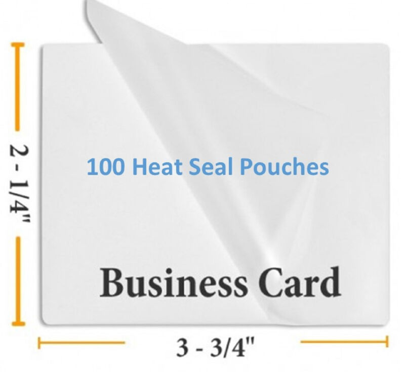 5 Mil Business Card Size Heat Sealing Laminating Pouches 100  2.25 x 3.75 inches