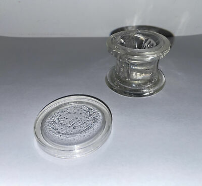Aht Co. Vintage Glass 4 Slide Staining Jar Lab Apothecary Chemist Made In Usa -d