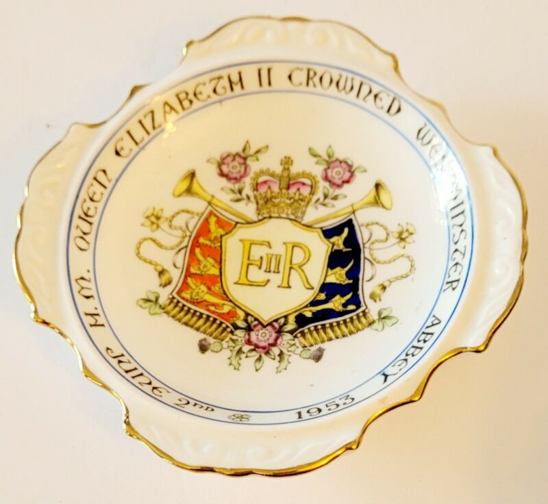 Queen Elizabeth Coronation Commemorative Trinket Dish 1953.Paragon Bone China