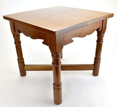 Vintage Stickley Solid Cherry  End Table Old Mission 1981 Cherry Mission End Table