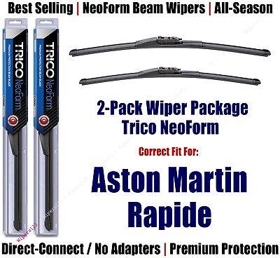 2-Pck Super-Premium NeoForm Wipers fit 2012-2018 Aston Martin Rapide- 62515/2015