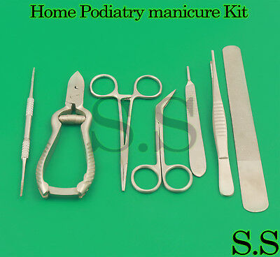 Best Home Podiatry Manicure Kit Ingrowing Toenail Removal Nail Surgery 7Pcs