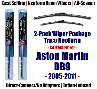2pk Super-Premium NeoForm Wipers fit 2005-2011 Aston Martin DB9 - 16240/200