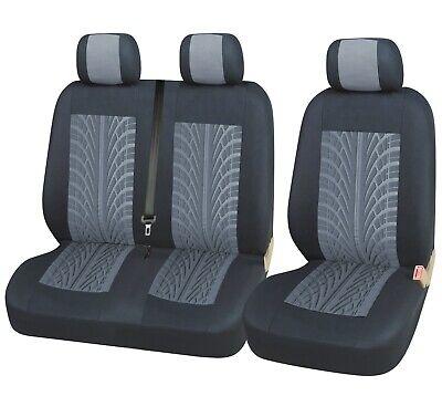2+1 Sitzbezüge Polyester Grau / Schwarz Schonbezüge für