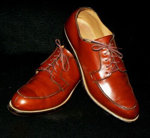 vtg Nettleton Traditional Split Toe Dress Shoes blucher oxford fedora vlv 9.5 A