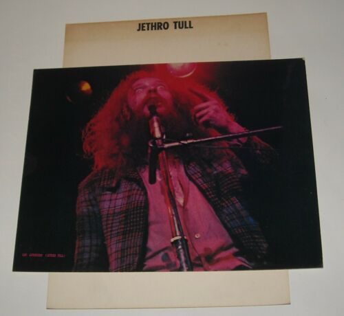 1973 IAN ANDERSON JETHRO TULL 8.5 x 11 COLOR PHOTO Rising Signs WENDI LOMBARDI