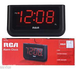 RCA Large 1.4 LED Display Loud Digital Alarm Clock with Battery Backup