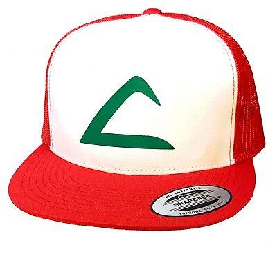 Ash Ketchum Katchem Pokemon Flat Bill Hat with Swoosh