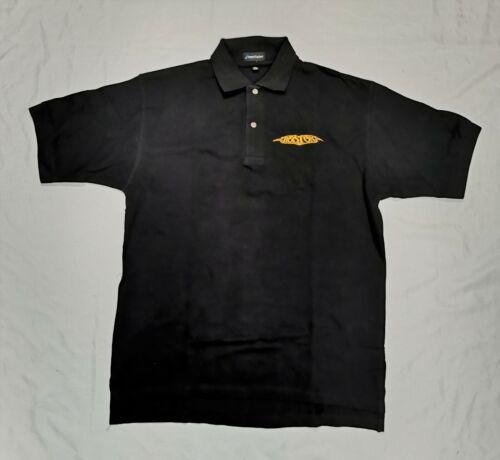 Boston 2014 Tour Embroidered Black Short Sleeve Polo Shirt Sz Men