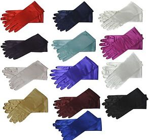 9-Wrist-Length-Stretch-Satin-Gloves-for-Wedding-Bridal-Prom-Formal-14-Colors