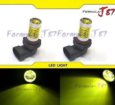 LED 80W 9005 HB3 Yellow 3000K Two Bulb Head Light DRL Daytime Replace Show Use