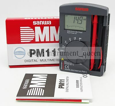 Digital Multimeters Pocket Type Tough But Compact Dmm 4000 Count Sanwa Pm11
