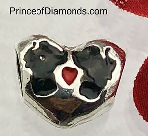 Silver coloured Mickey & Minnie Mouse bead fits pandora bracelet