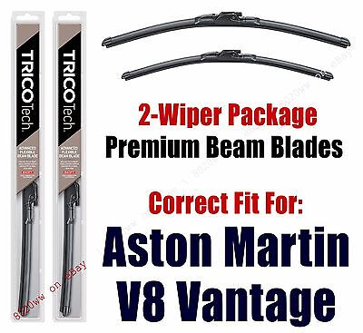 Wipers 2-Pack Premium Beam Wipers fit 2012+ Aston Martin V8 Vantage 19260/200