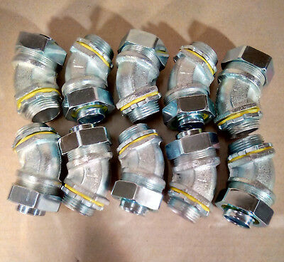 New 10 Pack Hubbell-raco 3444 1 Sealtite 45 Degree