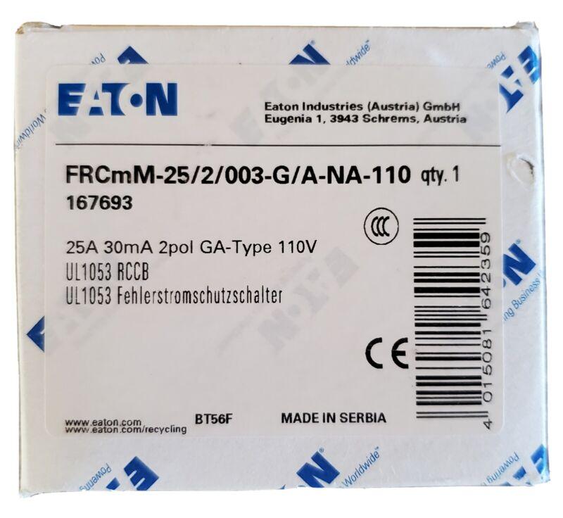 NEW IN BOX Eaton Electrical Div FRCMM-25/2/003-G/A-NA-110