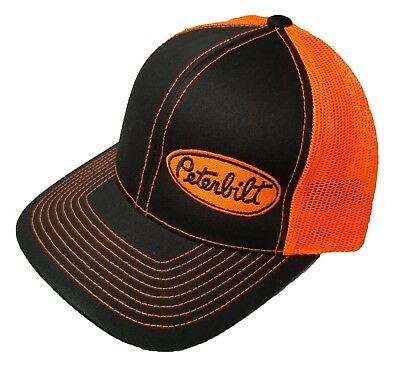 Richardson Peterbilt Logo Snapback Hat, Custom, Trucker Cap for Men and Women (Customes For Women)