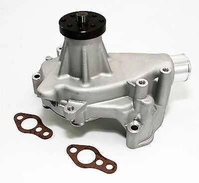 Long Water Pump - SBC Long Aluminum Water Pump Natural Finish High Volume Small Block Chevy 350