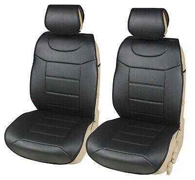 2x Sitzauflage Sitzkissen Sitzmatten Rückenkissen Auto Grau Kunstleder+Stoff