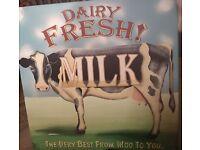 Sealright Milk Bottle Hood Soldier Old Dairy Store Sign