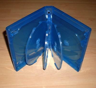 Blu Ray Hülle Siebenfach 7fach 7-fach blau Blu-Rays Blue Ray 7er Leerhülle Neu