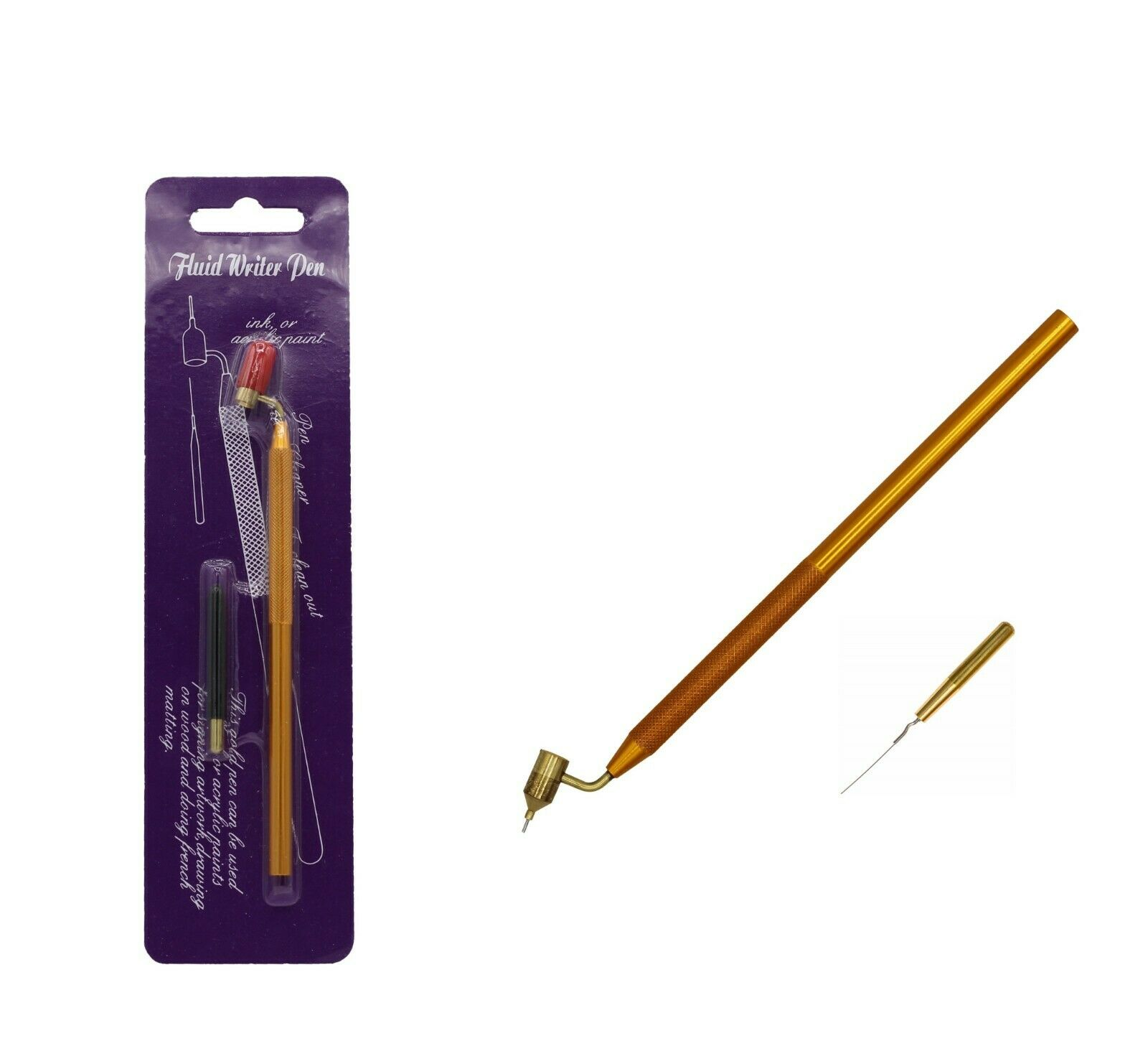 Detailing Fine Line Fluid Writer Paint Applicator Pen | Precision Touch Up Pen Acrylic Paint