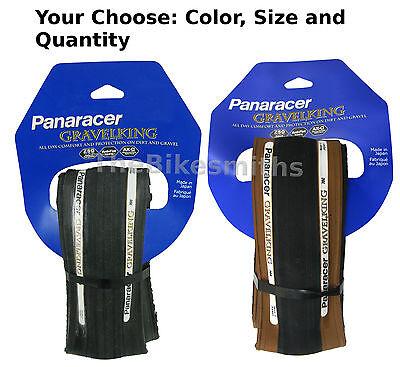 Panaracer Gravel King 700 x 23/ 26/ 28/ 32/ 35/ 38 Slick Folding Road Bike Tire ()