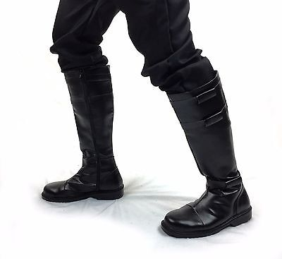 Kylo Ren Obi Wan Kenobi Jedi Knight Black Strap Boots Dark Sith US SELLER!!